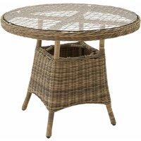 Tectake - Garden table - bistro set, garden coffee table, patio table - nature