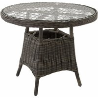 Garden table - bistro set, garden coffee table, patio table - grey