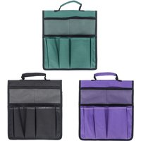 Garden Tool Bag Portable Storage Bag Large Capacity Convenient Gardening Pouch Toolkit,model:Black