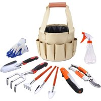 Garden Tool Set, Hand Tool Gift Kit, Outdoor Gardening Transplant for Gardener, with Heavy Duty Storage Bag for Storage