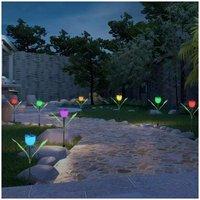 Garden Tulip Flower Shape LED Solar Powered Lights
