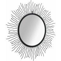Garden Wall Mirror Sunburst 80 cm Black - Black - Vidaxl