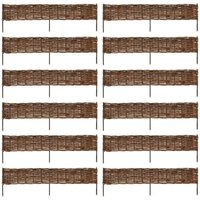 Garden Willow Border Fence 12 pcs 120 x 35 cm - VIDAXL