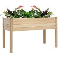 Garden Wood High Raised Bed Flower Vegetable Plant Seeds Bed