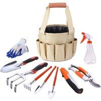 Gardening Toolbag Canvas Bag Set Combined Aluminum Alloy Excavator Garden Scissors Bucket Bag