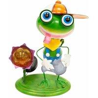 Metal Animal Lights / Solar Powered LEDs / Weatherproof Statues / Garden Decorations / Patio Ornaments (Frog) - Gardenkraft
