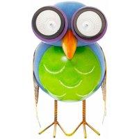 GardenKraft Metal Animal Lights / Solar Powered LEDs / Weatherproof Statues / Garden Decorations / Patio Ornaments (Owl)