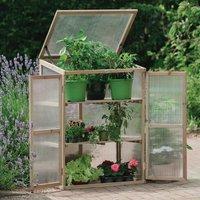 Garden Wooden Greenhouse Cloche Plant Growhouse Polycarbonate 08896 - Gardman