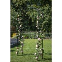 Metal Decorative Elegant Parisian Garden Black Steel Arch Pergola 07714 - Gardman
