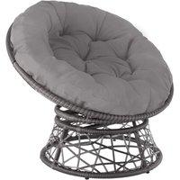 Gargano Rattan Chair - grey - grau - TECTAKE
