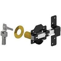 Gatemate 1491116 Shoot P12 Type 2 Single Rim Lock, Black, 70mm