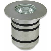 Gea, Gu4, aluminum and glass recessed spotlight