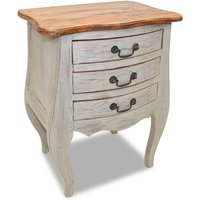 Geller 3 Drawer Bedside Table by Brown - Fleur De Lis Living