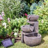 Solar Genoa Cascade Oriental Garden Water Feature Fountain - Smart Garden