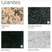 Gensifer Granite Round Kitchen Table with Retro Base and a range of top options from £500 Kashmir - Granite 120 - cm - Round 75 cm Round Bull Nose