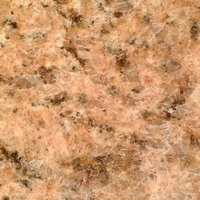 Netfurniture - Gesdy Round kitchen dining table Granite, Terrazzo, Marble or Quartz tops - cast iron base Giallo Venezia - Granite 60cm diameter top