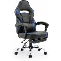 Beneffito - GHOST - GAMER reclining desk chair with footrest - Blue - Blue