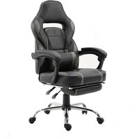 Beneffito - GHOST - GAMER reclining desk chair with footrest - Grey - Grey