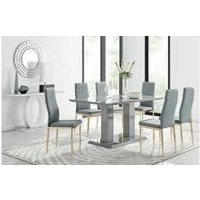 Giovani High Gloss And Glass Large Round Dining Table And 4 White Milan Chairs Set