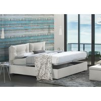 Giulia Single Bed With Front Opening Container, White - TALAMO ITALIA