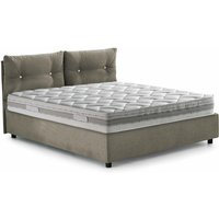 Giulia Single Bed With Front Opening Container, Taupe - TALAMO ITALIA