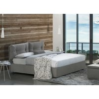 Giulia Single Bed With Front Opening Container, Grey - TALAMO ITALIA