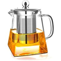 Bearsu - Glass Teapot with Removable Infuser, High Borosilicate Glass Loose Tea Kettle, 304 Stainless Steel Strainer and Lid - Stove Safe (750ML)