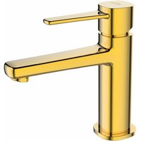 Gold Brass Bathroom Basin Tap Sink Faucet Single Lever Standing Mixer