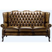 Designer Sofas 4 U - Gold Chesterfield 3 Seater High Back chair | DesignerSofas4U