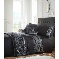 Bedmaker - Grace Black Sequined Double Duvet Cover Set Bedding Bed Set Glamorous