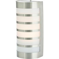 Graceful stainless steel outdoor wall light Alvin - LINDBY