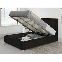 Aspire - Grant Ottoman Upholstered Bed, Kimiyo Linen, Charcoal - Ottoman Bed Size King (150x200)