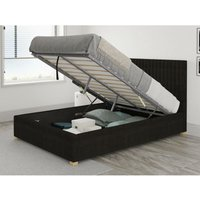 Aspire - Grant Ottoman Upholstered Bed, Kimiyo Linen, Charcoal - Ottoman Bed Size Superking (180x200)