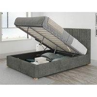 Aspire - Grant Ottoman Upholstered Bed, Kimiyo Linen, Granite - Ottoman Bed Size Superking (180x200)