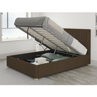 Grant Ottoman Upholstered Bed, Yorkshire Knit, Chocolate - Ottoman Bed Size Single (90x190) - ASPIRE