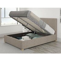 Grant Ottoman Upholstered Bed, Yorkshire Knit, Mineral - Ottoman Bed Size Single (90x190) - ASPIRE