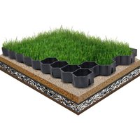Zqyrlar - Grass Grids 16 pcs Black 60x40x3 cm Plastic