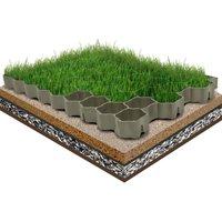 Zqyrlar - Grass Grids 16 pcs Green 60x40x3 cm Plastic