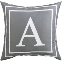 Gray Pillow Cover English Alphabet A Throw Pillow Case Modern Cushion Cover Square Pillowcase Decoration for Sofa Bed Chair Car 18 x 18 Inch