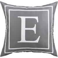 Gray Pillow Cover English Alphabet E Throw Pillow Case Modern Cushion Cover Square Pillowcase Decoration for Sofa Bed Chair Car 18 x 18 Inch