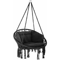 Hanging chair Grazia - garden swing seat, hanging egg chair, garden swing chair - schwarz