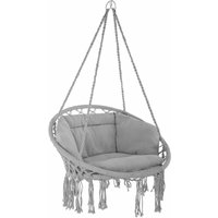 Hanging chair Grazia - garden swing seat, hanging egg chair, garden swing chair - grey - TECTAKE