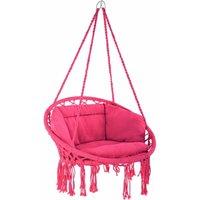 Hanging chair Grazia - garden swing seat, hanging egg chair, garden swing chair - pink - TECTAKE