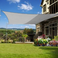 Green Bay Square Anti-UV Sun Shade Sail for Outdoor Garden Patio Party Sunscreen Awning Canopy Grey With Free Rope(3x3m)