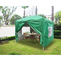 Greenbay Garden Pop Up Gazebo Party Tent Canopy With 4 Sidewalls and Carrying Bag Green 2x2M - GREEN BAY