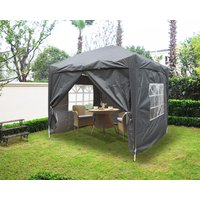 Greenbay Garden Pop Up Gazebo Party Tent Canopy With 4 Sidewalls and Carrying Bag Anthracite 2x2M - GREEN BAY