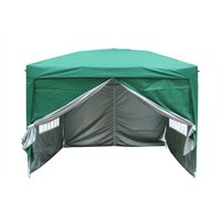 Greenbay Garden Pop Up Gazebo Party Tent Canopy With 4 Sidewalls, and Carrying Bag Green 3x3M - GREEN BAY