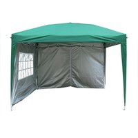 Garden Pop Up Gazebo Party Tent Canopy With 4 Sidewalls, and Carrying Bag Green 3x3M - Greenbay