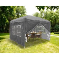 Greenbay Garden Pop Up Gazebo Party Tent Canopy With 4 Sidewalls and Carrying Bag Anthracite 3x3M
