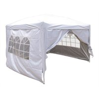 Greenbay Garden Pop Up Gazebo Party Tent Canopy With 4 Sidewalls and Carrying Bag White 3x3M - GREEN BAY